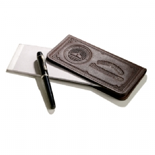 A GREAT PROMOTIONAL PRODUCT! A CUSTOM LEATHER CHECKBOOK WITH YOUR OWN DESIGN AND LOGO!
