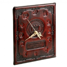ANTIQUE LEATHER CLOCK