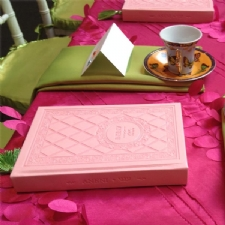 Match your Decor! Custom Pink Cover with Matching Tassel